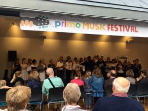 Piano teachers, guitar teachers and music students take part in the Primo Music Festival, Llandaff, Cardiff